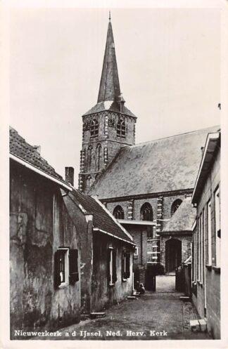 Ansichtkaart Nieuwerkerk aan den IJssel Ned. Hervormde Kerk 1948 HC2801