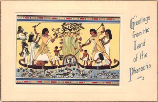 Ansichtkaart Egypte Greetings from the Land of the Pharaoh's 1. Thebes The Mortuary Chapel of Menna Afrika HC2823