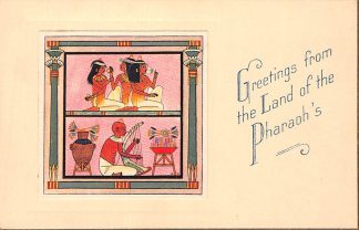 Ansichtkaart Egypte Greetings from the Land of the Pharaoh's 12 Thebes The Mortuary Chapel of Nakht Afrika HC2825