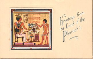 Ansichtkaart Egypte Greetings from the Land of the Pharaoh's 10. Thebes: Tomb and Mortuart Chapel of the Noble Sennefer Afrika HC2826