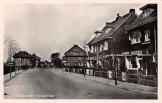 Ansichtkaart Waddinxveen Kanaalstraat 1949 HC2832