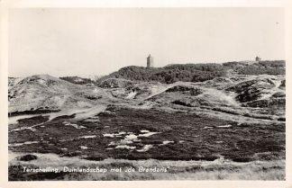 Ansichtkaart Terschelling Duinlandschap met Vuurtoren de Brandaris 1955 HC2865
