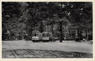 Ansichtkaart Haarlem Eindpunt Tram Haarlemmerhout met trams 303 en 329 HC2875