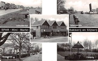 Ansichtkaart Burgerveen Spar Mini Markt Bakkerij en Slijterij 50 jaar Reclame Haarlemmermeer HC2878