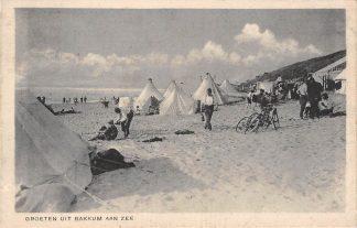 Ansichtkaart Bakkum Groeten uit 1931 Strand en Zee HC2885