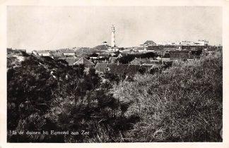 Ansichtkaart Egmond aan Zee Vuurtoren in de duinen 1953 HC2910