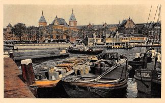 Ansichtkaart Amsterdam Centraal Station Schip Stad Breda Spoorwegen Schepen HC2913