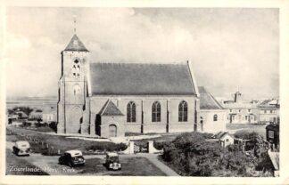 Ansichtkaart Zoutelande Hervormde Kerk Molen Auto 1957 HC2924
