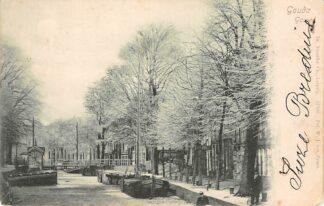 Ansichtkaart Gouda Gouwe Amsterdams Verlaat Winter IJs HC2965