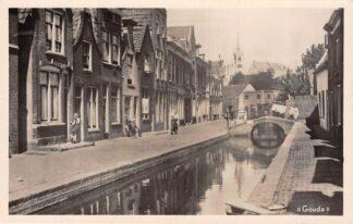 Ansichtkaart Gouda Achter de Vismarkt 1949 HC2977