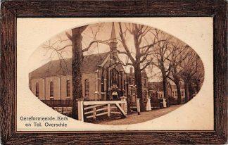 Ansichtkaart Overschie Gereformeerde Kerk en Tol 1912 Rotterdam HC2985