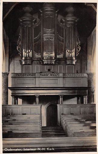 Ansichtkaart Oudewater Interieur Ned. Hervormde Kerk met orgel HC2996