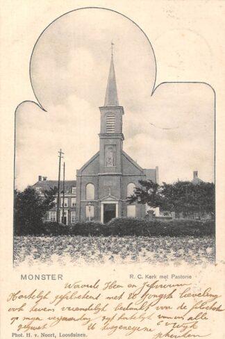 Ansichtkaart Monster R.C. Kerk met Pastorie 1902 HC2997
