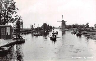 Ansichtkaart Hazerswoude Rietveld Molen en vissers in roeibootjes HC3006