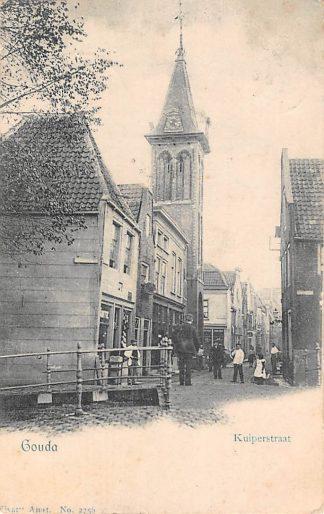 Ansichtkaart Gouda Kuiperstraat vanaf de Raam 1902 Vivat HC3019