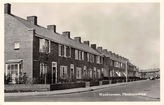 Ansichtkaart Waddinxveen Meidoornstraat 1954 HC3033