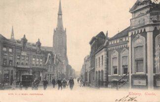 Ansichtkaart Gouda Kleiweg Hondenkar Paard en wagen 1903 HC3086