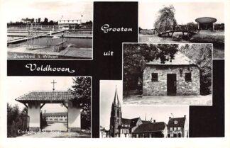 Ansichtkaart Veldhoven Zwembad Kiosk Kindertehuis Kerk HC3146