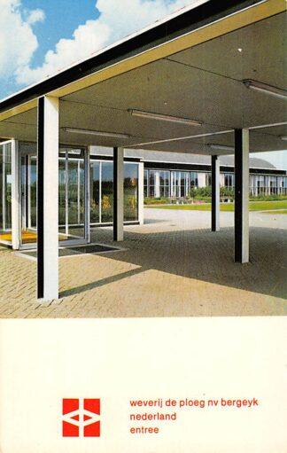 Ansichtkaart Bergeijk Weverij de Ploeg NV Entree Reclame HC3170