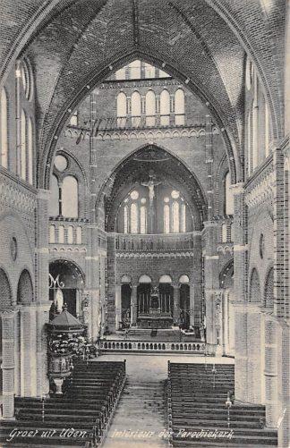 Ansichtkaart Uden Interieur der Parochiekerk 1912 HC3173