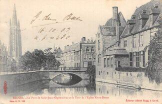 Ansichtkaart Belgie Brugge Le Pont de Saint-Jean-Nepomucene et la Tour de l'Eglise Notre Dame 1903 Europa HC3177