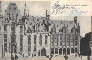 Ansichtkaart Belgie Brugge Le Gouvernement Provincial et la Poste Postkantoor 1903 Europa HC3178