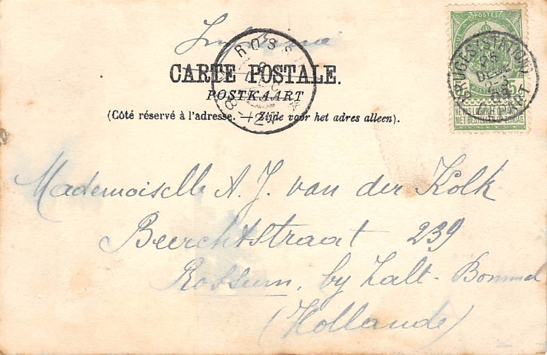 Brugge Le Gouvernement Provincial Et La Poste Postkantoor 1903