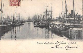 Ansichtkaart Antwerpen Anvers Les Bassins Schepen 1903 België HC3180