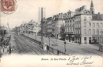 Ansichtkaart Antwerpen Le Quai Plantin 1903 België HC3181