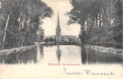 Ansichtkaart Nivelles Nijvel La lac du parc 1903 België HC3182