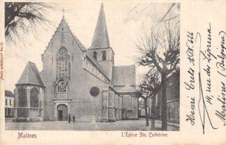 Ansichtkaart Belgie Mechelen Malines l'Eglise Ste. Catherine 1903 Europa HC3183