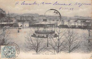 Ansichtkaart Bayonne La Place d'Armes Tram en schepen 1903 Frankrijk France HC3193