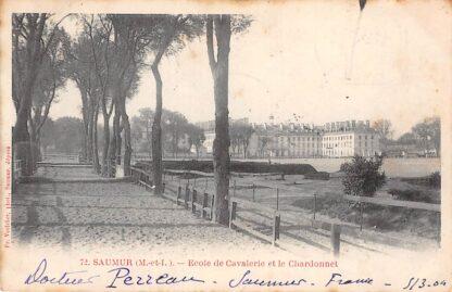 Ansichtkaart Saumur (M.-et-L.) Ecole de Cavalerie et le Chardonnet Militair 1904 Frankrijk France HC3194