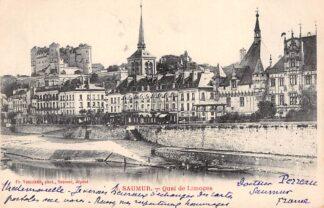Ansichtkaart Saumur Quai de Limoges 1904 Frankrijk France 1904 HC3195