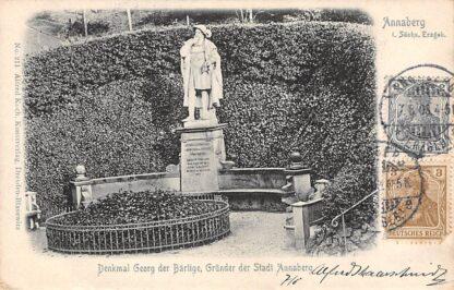 Ansichtkaart Annaberg i. Sachs. Erzgeb. 1903 Denkmal Georg der Bartige Grunder der stadt Duitsland Deutschland HC3197