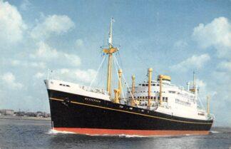 Ansichtkaart Holland America Line m.v. Westerdam vertrek Rotterdam Schepen Scheepvaart HC3200