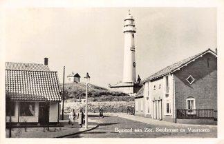Ansichtkaart Egmond aan Zee Smidstraat en Vuurtoren 1956 HC3203