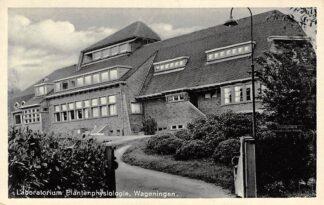 Ansichtkaart Wageningen Laboratorium Plantenphysiologie 1940 HC3217