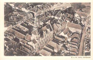 Ansichtkaart Zierikzee KLM Luchtfoto Het Stadhuis met omgeving 1939 HC3223