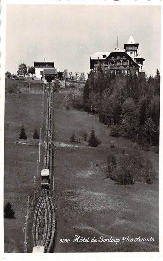 Ansichtkaart Lausanne Hotel de Sonloup s/les Avants Trein Zwitserland Suisse HC3224