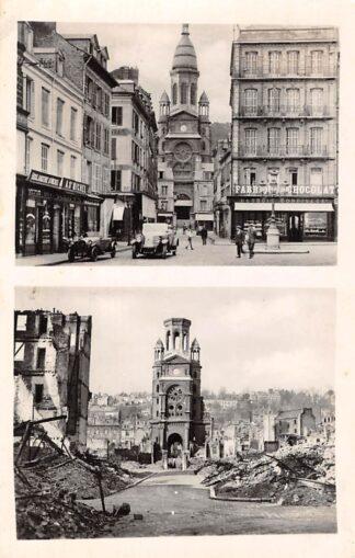 Ansichtkaart Le Havre La Rue d'Ingouville et l'Eglise St. Michel WO-2 1940 - 1945 Frankrijk France HC3226