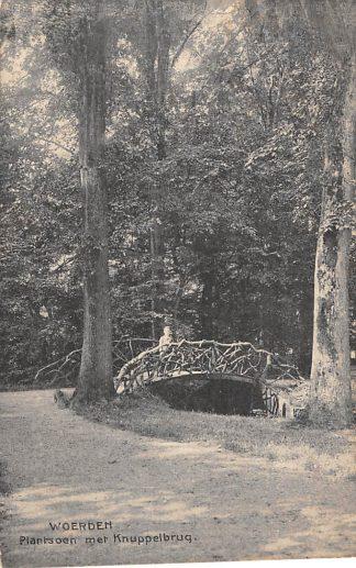 Ansichtkaart Woerden Plantsoen met Knuppelbrug Kraaijenbrink 1910 HC3227