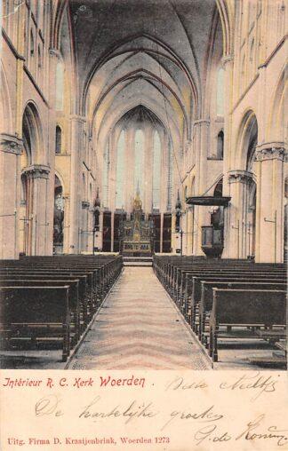 Ansichtkaart Woerden Interieur R.C. Kerk Woerden Kraaijenbrink 1273 HC3228