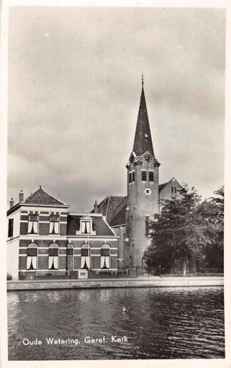 Ansichtkaart Oude Wetering Gereformeerde Kerk 1956 HC3229