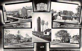 Ansichtkaart Zoetermeer Groeten uit met watertoren 1960 HC3231