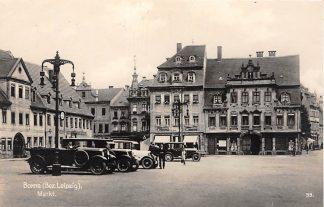 Ansichtkaart Borna ( Bez. Leipzig ) Markt Auto 1930 Duitsland Deutschland HC3242