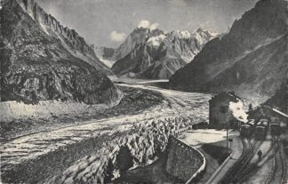 Ansichtkaart Chamonix Mont Blanc Station Bahnhof Treinen Spoorwegen 1954 HC3248