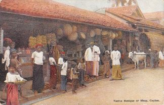 Ansichtkaart Ceylon Native Botique or shop Sri Lanka Azië HC3255