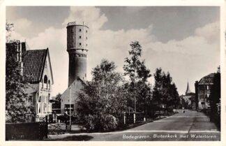 Ansichtkaart Bodegraven Buitenkerk met Watertoren 1956 HC3256
