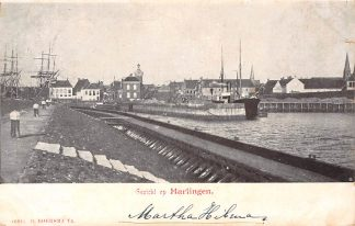 Ansichtkaart Harlingen Gezicht Haven met schepen HC3264
